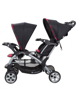 Baby Trend Double Sit N' Stand Stroller System and Travel Car Seat, Optic Pink