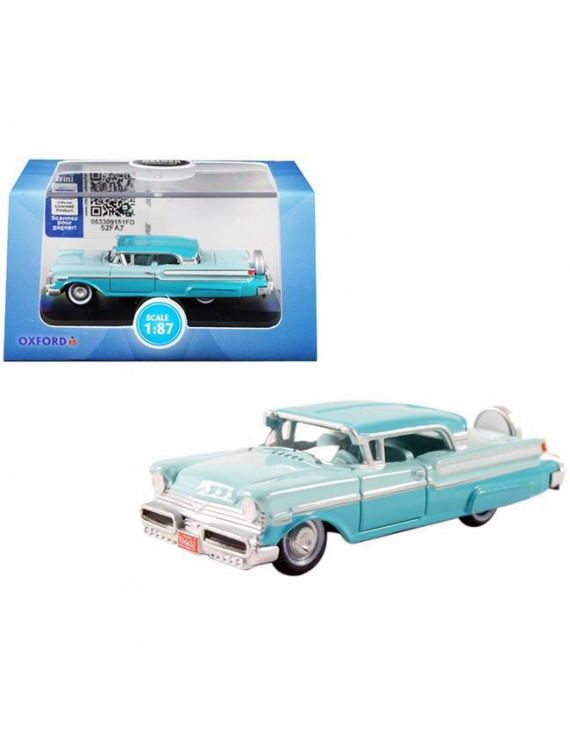 Oxford Diecast 87MT57004 1957 Mercury Turnpike Tahitian & Spring Valley 1 by 87 HO Scale Diecast Model Car, Green