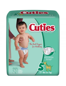 Cuties Jumbo Premium Diapers, Size 5, 27 count