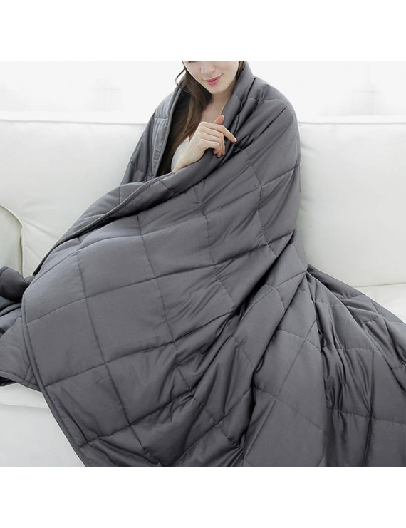 TureClos Cotton Weighted Blanket Heavy with Glass Beads Decompression Gravity Blanket