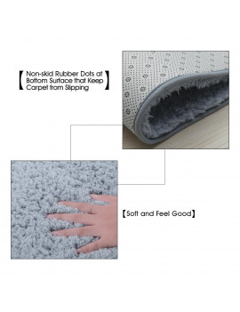 100*160cm Super Soft Shaggy Area Rug Highly Absorbent Carpet Non-skid Footcloth Mat Ground Mat Fluffy Rugs Floor Mat
