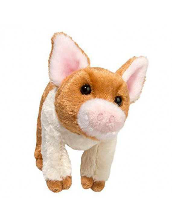 Douglas Toys MELVIN the PIG W RUST PATCH (Small)