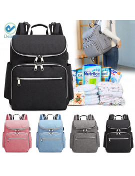 Deago Fashion Women daypack Diaper Bag Multi-Function Waterproof Travel Backpack Nappy Bags for Baby Care Black