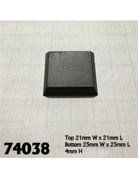 1 in. Square Plastic Flat Top Base - Pack of 20