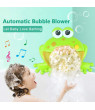 ZIOBLW Frog Bubble Machine for Baby Bath Toys, Musical Bathtub Bubble Toy Bubble Maker with Nursery Rhyme for Infant Baby Children Kids Happy Tub Time,Bubble Machine for Boys and Girls Aged 1 2 3 4