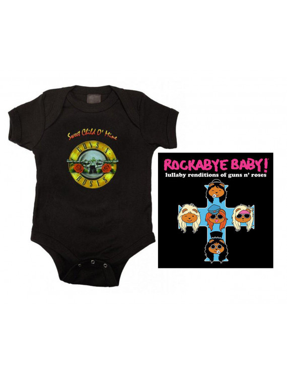 Guns N Roses Sweet Child Bodysuit and Lullaby CD Set