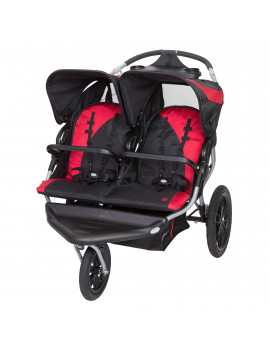 Baby Trend Navigator Lite Double Jogging Stroller, Candy Apple
