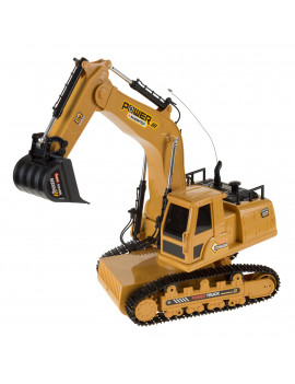 Remote Control Tractor Excavator Construction Toy by Hey! Play!