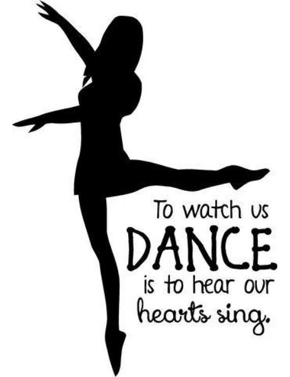 "Vinyl Wall Decal: Dancing Wall Quote - Ballerina Dance Bedroom Sticker / Decal 20""x13"" [Dance1]"