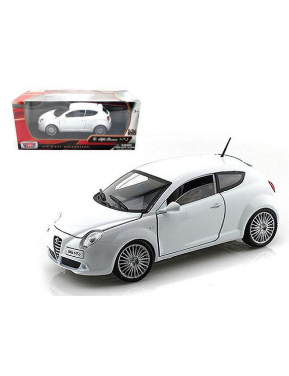 1 by 24 Alfa Romeo Mito Diecast Car Model, White
