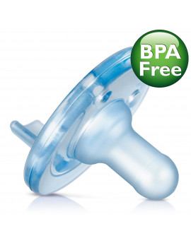 Philips Avent Soothie Pacifier, 0-3 months, Blue, 4 pack, SCF190/43