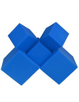 "Foam Pits Blocks/Cubes 20 pcs. (Blue) 5""x5""x5"" (1542) Flame Retardant Pit Foam Blocks For Ninja Obstacle Course, Skateboard Parks, Gymnastics Companies, and Trampoline Arenas"
