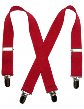 CTM® Infants' Elastic Clip-End 1 Inch Solid Suspenders