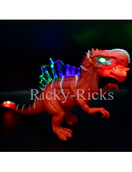 Walking Dinosaur Spinosaurus Kids Light Up Toy Figure Sounds Real Movement LED Roaring Gift 2018 Dinosaurio (Color May Vary, simple assembly required)