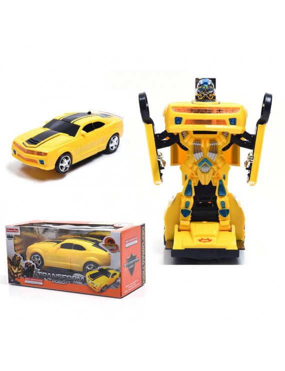 WonderPlay Transforming Truck Toy 2 in 1 Truck Realistic Robot for Girls and Boys Bump and Go Action With Sounds and Colorful Lights