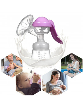 1 Pack Manual Breast Pump, Soft Silicone Petal-shaped Nursing Breast Pump Breastfeeding Milk
