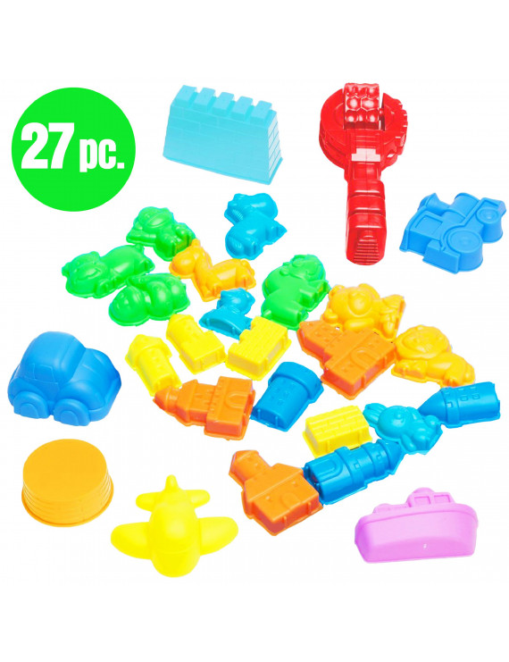 USA Toyz Kinetic Sand Molds - 27 pcs Sand Castle Building Kit with City Shape Sand Toys and Kinetic Sand Tools (Sand NOT included)