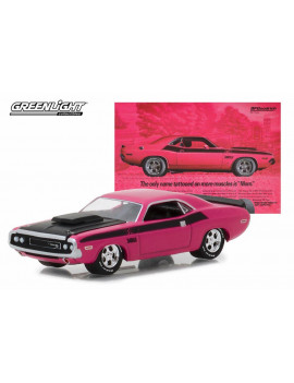 1970 Dodge Challenger, Pink - Greenlight 29943/48 - 1/64 Scale Diecast Model Toy Car