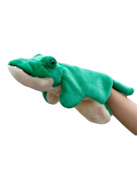 Bluelans Cute Crocodile Plush Stuffed Doll Long Sleeve Hand Puppet Storytelling Kids Toy