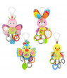 Baby Toys Soft Hanging Crinkle Squeaky Sensory Learning Toy Infant Newborn Stroller