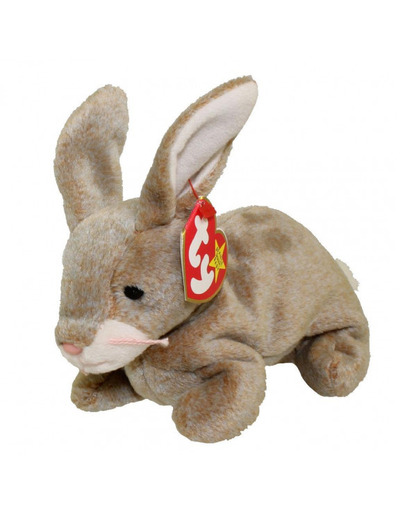 TY Beanie Baby - NIBBLY the Brown Rabbit (6 inch)