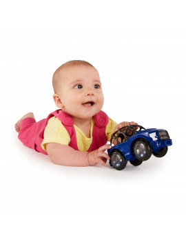 Bright Starts Rattle & Roll F-150 Raptor Easy-Grasp Push Vehicle Toy, Ages 3 Months +