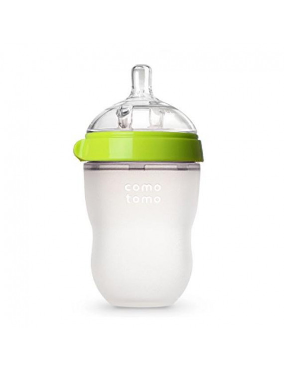 comotomo natural feel baby bottle, green, 8 ounces