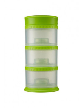 Innobaby Packin' Smart Stackable and Portable Storage System for Formula, Liquid, Baby Snacks and more. 3 Stackable Cups in Lime. BPA Free.