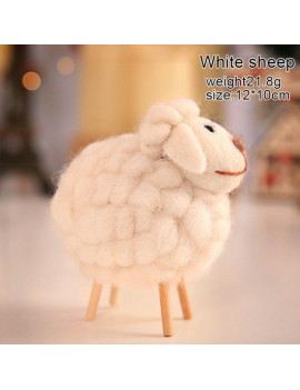 1 PC 12×10cm Wool Felt Cute Sheep Stuffed Plush Animals Toys for Children Kids Room Decoration Ornament Popular