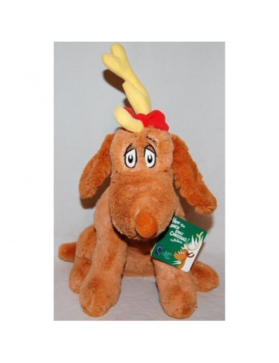 """the grinch who stole christmas max the dog 12"""" plush"""