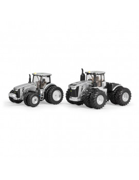 1/64 Limited Edition 100 Years Silver and Black John Deere 9570R and 8400R Two Piece Set