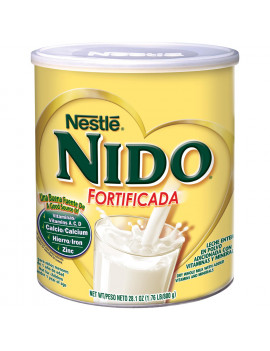 Nestle NIDO Fortificada Whole Milk Powder 28.1 oz. Canister Powdered Milk Mix