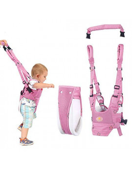 Baby Walker Toddler Walking Assistant, Stand Up and Walking Learning Helper for Baby, 4 in 1 Multi-function Safety Baby Walking Harness Walker for Baby 7-24 Months ( Pink )