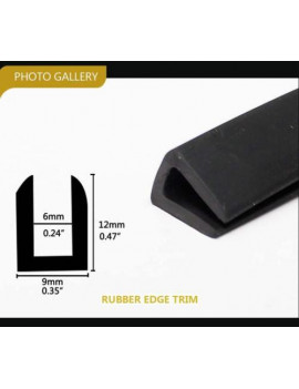 "0.35"" X 0.47"" Automotive Vehical Door Edge Guard Protector Trim Strip Black Soft (50ft)"