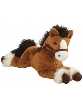 GUND Fanning Palomino Horse Laying Down Stuffed Animal Plush,12""