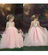 Nituyy Toddler Kids Baby Girl Flower Dress Lace Tulle Party Bridesmaid Pageant Dress