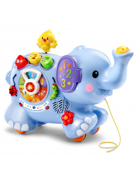 VTech Pull and Discover Activity Elephant, Cute Animal Toy for Baby