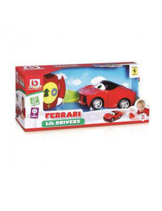 BB Junior Play & Go Ferrari Lil Drivers, Assorted Cars, 1-Pack, Red