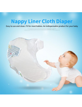10 PCS New Reusable Baby Modern Cloth Diaper Nappy Liners insert 3 / 6 Layers Cotton, Nappy Liner,Cloth Diaper