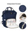 Diaper Bag Backpack, Large Unisex Baby Bags with Insulated Pockets, Vbiger Multi-Function Waterproof Travel Back Pack Maternity Changing Bags, Blue