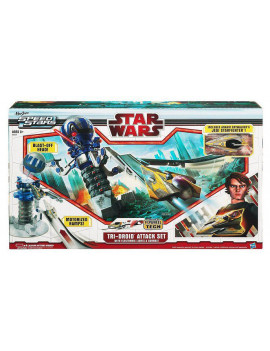 Star Wars Tri-Droid Attach Set w/ Lights & Sounds w/ Anakin Starfighter