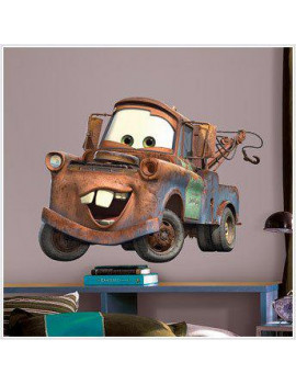 DISNEY CARS Wall Mural Stickers Decal BiG MATER Decor R, Removable, Repositionable Peel and Stick Vinyl Bedroom Decorations Decals Wall Room Decor Stickers By RoomMates