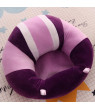 Comfortable Baby Infant Newborn Sofa Learn Sitting Chair Support Seat Soft Cotton Sofa Chair Plush Cushion - Purple