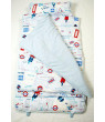 SoHo Extra Roomy Nap Mat for Toddlers, Happy Trip, With Pillow and Carrying Strap for Preschool or Daycare