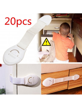 20pcs Portable Multi-functional Baby Infant Child Kids Adhesive Safety Locks Latches Door Cupboard Cabinet Fridge Drawer Locks