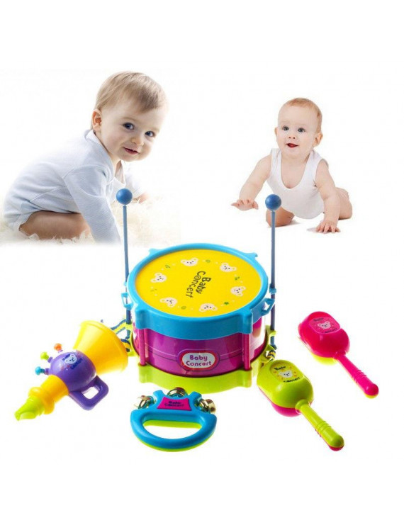 5pcs Baby Boy Girl Drum Musical Instrument Toy Kids Gifts Educational Toys