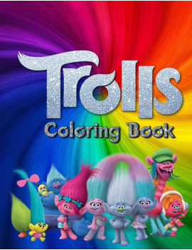 "Trolls Coloring Book: Trolls Coloring Books For Kids. 25 Pages, Size - 8.5"" x 11"". (Paperback)"