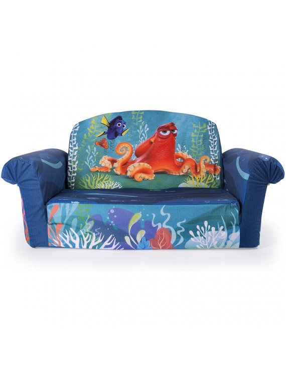 Marshmallow Furniture Comfy 2-in-1 Flip Couch Bed Kid's Furniture, Finding Dory