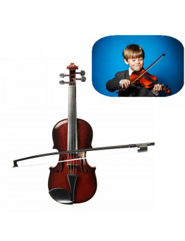 Kids Toy Violin with 4 Adjustable Strings & Bow Instrument Simulation Violin Toys 38x13x5cm (2 Colors)