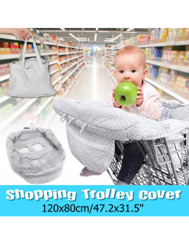 2-in-1 Large Shopping Cart Cover High Chair Cover for Baby or Toddler Compact Universa Fit Unisex for Boy or Girl ,Includes Carry Bag,Machine Washable ,Fits Restaurant Highchair